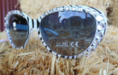 Blazin Roxx Ladies Zebra Design Fashion Sunglasses With Lots of Sparkling Bling