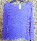WRANGLER Rock 47 Ladies Long Sleeved Floral Lace Lavender Blouse, Medium (In-Store-Only)