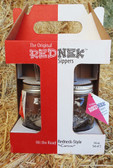 """""""P"""" The Original Red Nek Sippin' Glass Glasses, Set of Two, 16 oz Size, With Screw On Covers and  Durable Reusable Straws"""