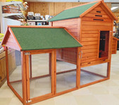 Redwood Stained Chicken Coop, special order available hutches/ in-store-only
