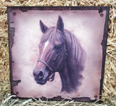 """P"" Horse Head Wall Decoration 12 "" x 12"" Square"