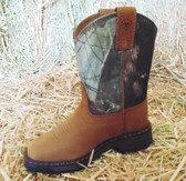 ARIAT Youth Boot, Camouflage and Tan, Shown in Size 9 (In Store Only)