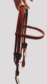 Horse Brow Band Headstall, Roughout Chestnut Color, Adjustable