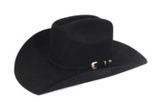 Felt Cowboy Hat, WRANGLER Men's Felt Hat, Woodland 07, Black, 4 1/4 in brim (Available In Store Only)