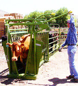 Powder River Livestock Handling Equipment Value Manual Squeeze Chute,  (MANY SIZES AVAILABLE IN-STORE ONLY, CONTACT STEVE AT L.A. HEARNE CO. KING CITY 831-385-4841; CONTACT TINA AT L.A. HEARNE CO. PRUNEDALE 831-663-1572)