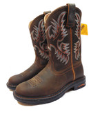 Ariat Women's Tracey Pull-On, Roper Toe, Dusted Brown Performance Work Boots, 7 M (Available In-Store)
