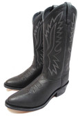 Old West Ladies Tall Black Boots With Pointed Toe With Detail Stitching (Available In-Store)