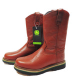 John Deere Men's Pull-On Work Boot, Brown Walnut (Available In-Store)