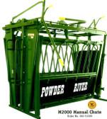 Powder River Manual  Chute M2000, L.A. Hearne Company, Official Powder River Dealer
