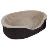 "Aspen Pet 28"" Large Lounger Pet Bed for Dogs (Brown)"