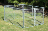 Behlen Chain-link Dog Kennel, 6' x 8' x 4' Tall  (MANY SIZES AVAILABLE IN-STORE ONLY, CONTACT STEVE AT L.A. HEARNE CO. KING CITY 831-385-4841; CONTACT TINA AT L.A. HEARNE CO. PRUNEDALE 831-663-1572)