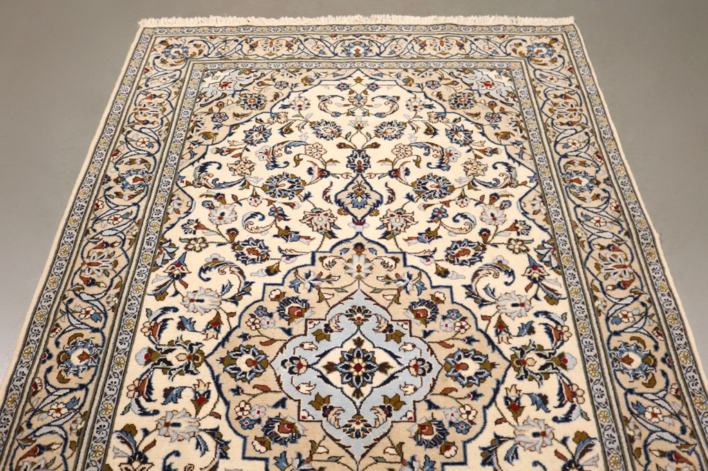 Pistachio Kashan Persian Rug (Ref 23) 248x148cm