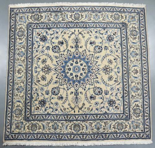 Nain Tabas Square Persian Rug (Ref 875) 195x195cm