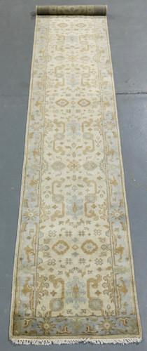 Oushak Indo Soft Wool Rug (Ref 70) 478x79cm