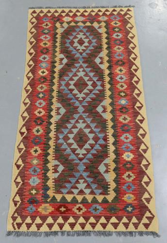 Veggie Dye Afghan Kilim (Ref 1736) 208x96cm