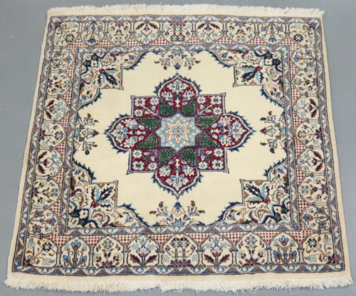 Nain Vintage Square Persian Rug (Ref 3543) 100x100cm