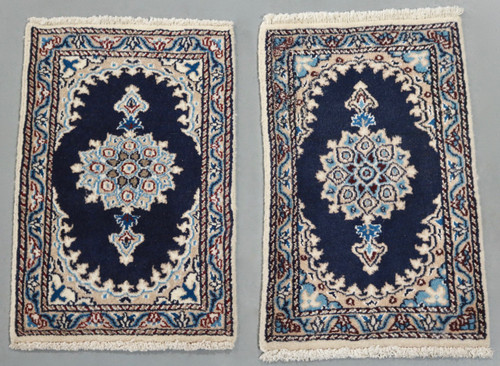 Pair of Nain Persian Rugs (Ref 6371) 60x40cm