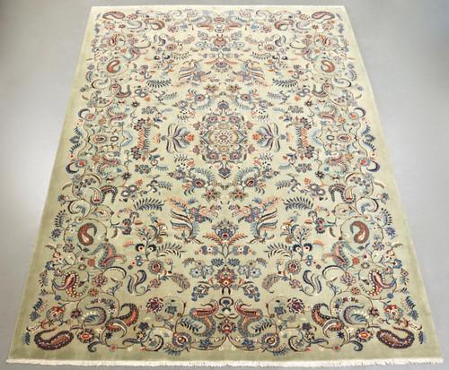 Pistachio Vintage Kashan Persian Rug (Ref 2142) 420x310cm