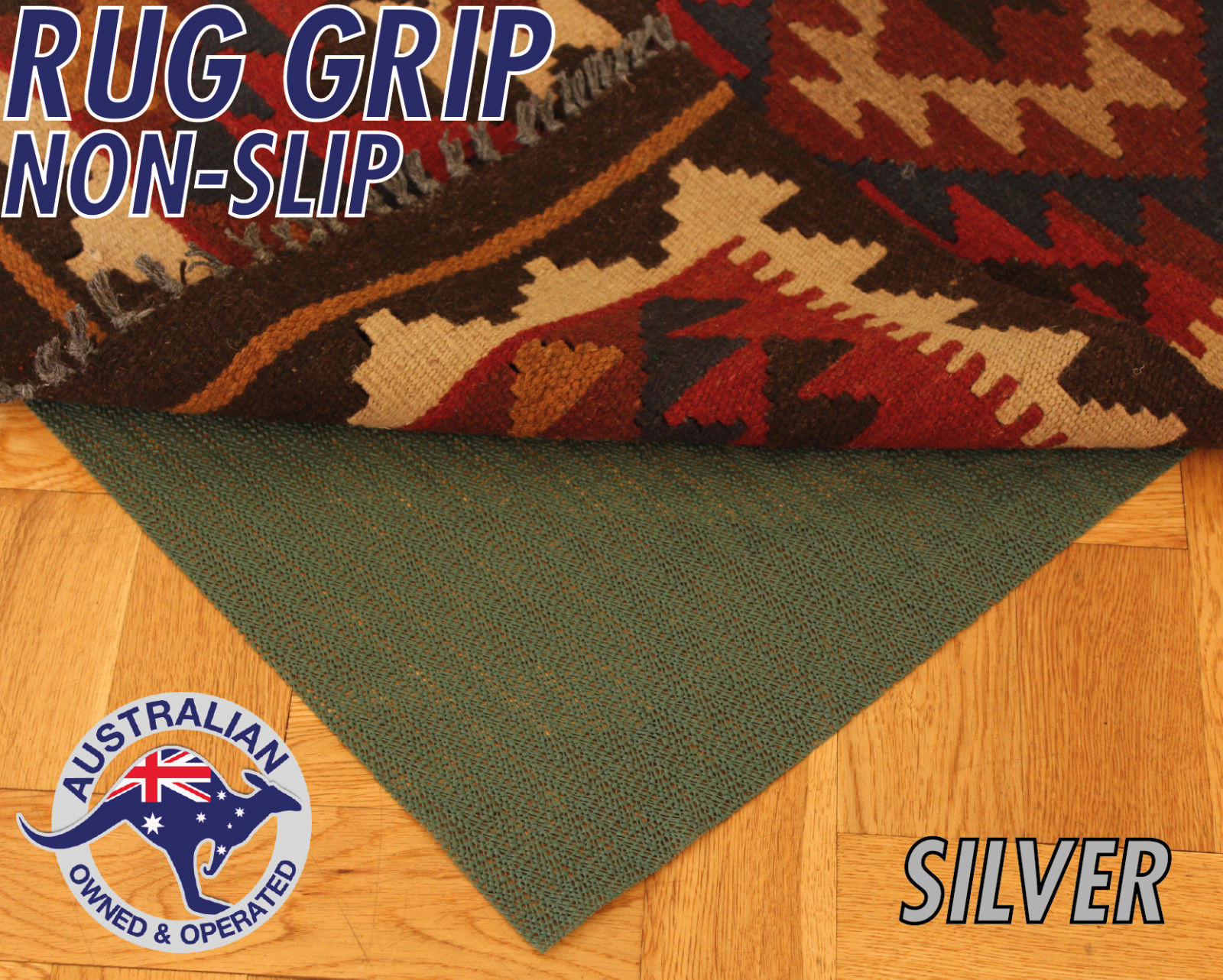 silver grade rug grip non slip underlay pad for rugs and runners. Black Bedroom Furniture Sets. Home Design Ideas