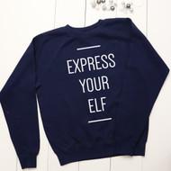 Personalised 'Express your Elf' sweatshirt