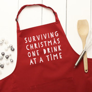 Personalised 'Surviving Christmas' Apron