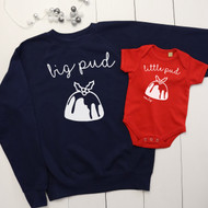 Personalised 'Big Pud and Little Pud' set