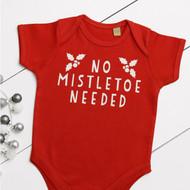 Personalised 'No Mistletoe Needed' Babygrow