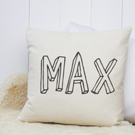 Personalised 'Bubble Name' Cushion