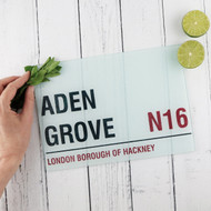 Personalised 'Street Sign' Chopping Board