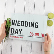 Personalised 'Wedding Street Sign' Chopping Board