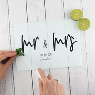 Personalised 'Mr and Mrs' Chopping Board