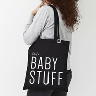 Personalised  'Baby Stuff' Tote Bag