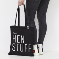 Personalised  'Hen Stuff' Tote Bag