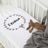 Personalised 'Wreath' Cot Sheet