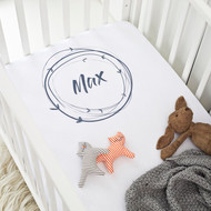 Personalised 'Name wreath' Cot Sheet