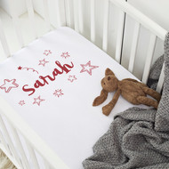 Personalised 'Star wreath' Cot Sheet