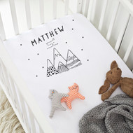 Personalised 'I can Move mountain' Cot Sheet