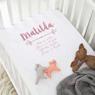 Personalised 'Name' Cot Sheet