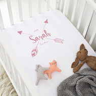 Personalised 'Arrow' Cot Sheet