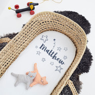 Personalised 'Stars' Cot/Pram Sheet