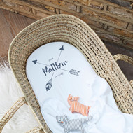 Personalised 'Arrow' Cot/Pram Sheet