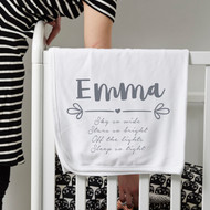 Personalised 'Name' Baby Blanket