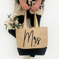 Personalised 'Mrs Or Miss' Jute Bags