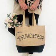 Personalised 'Professional' Black Jute Bag