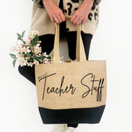 Personalised 'Any Profession' Black Jute Bag