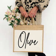 Personalised 'Name' With Pocket Jute Bag