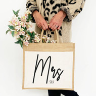 Personalised 'Mrs Or Miss' Jute Bag