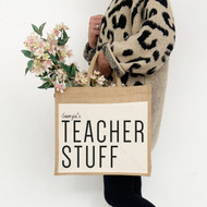 Personalised 'Teachers' Jute Bag