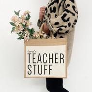 Personalised 'Teachers' Jute Bag