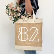 Personalised 'Years' Jute Bag
